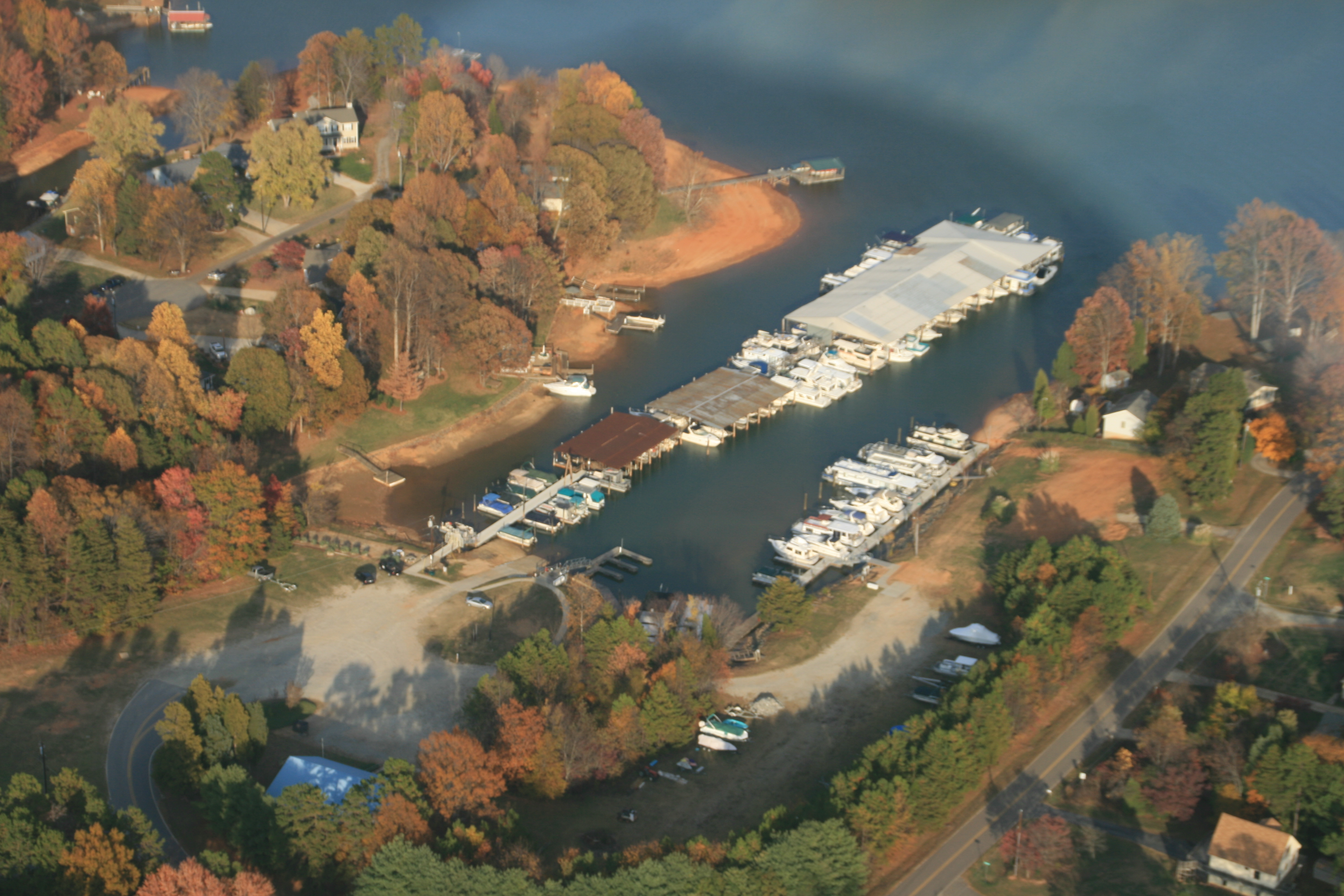 Arial view of Inland Sea Marina picture by Zeb Moser III  Pilot