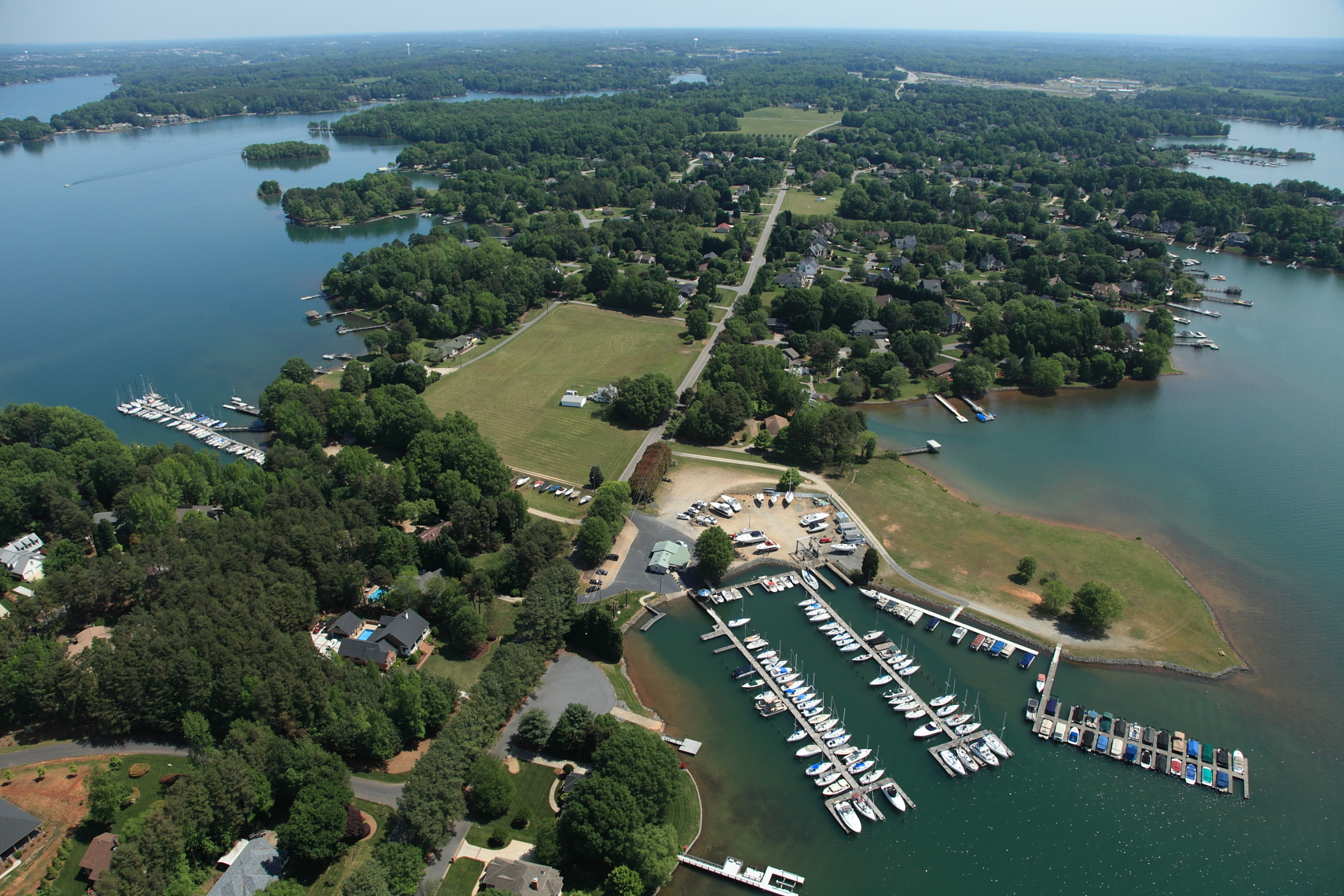 Arial view of All Seasons Marina picture by Zeb Moser III Pilot